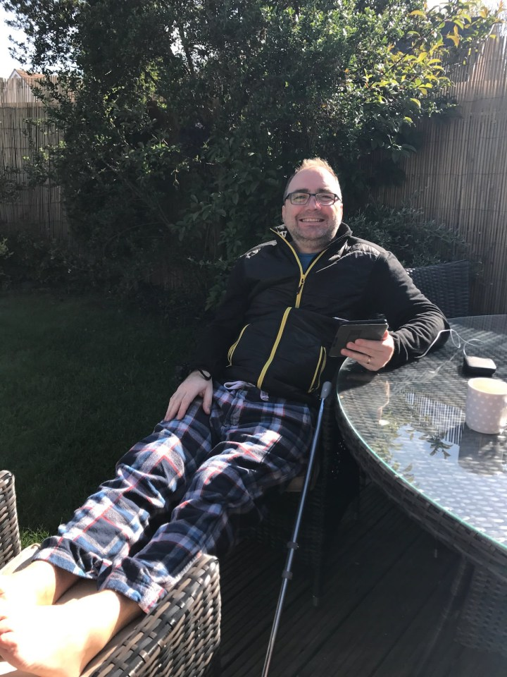 My first few days out of hospital saw me enjoying the May sunshine in the garden