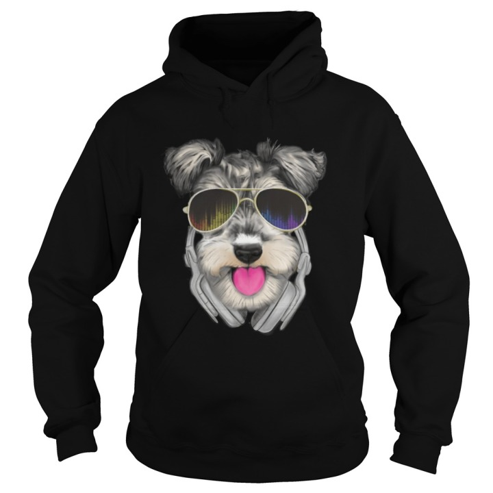 Schnauzer DJ Hoodie for men at mini-schnauzer.com