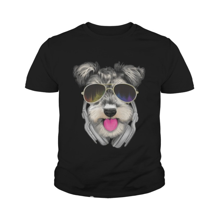 Schnauzer DJ Tshirt for kids at mini-schnauzer.com