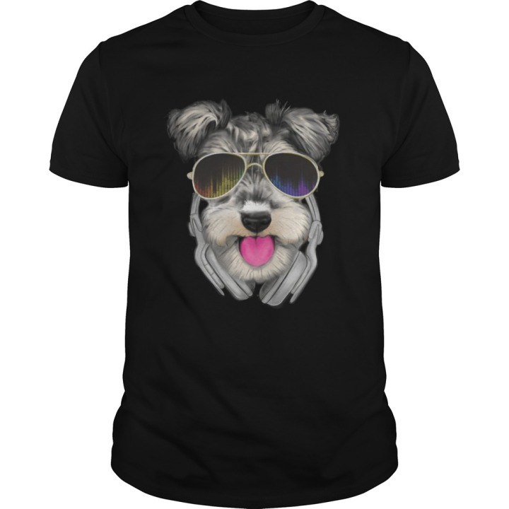 Schnauzer DJ Tshirt for men at mini-schnauzer.com